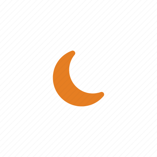 clouds, cloudy, moon, night, storm, weather icon