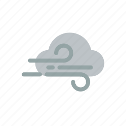 climate, clouds, night, storm, weather, wind icon
