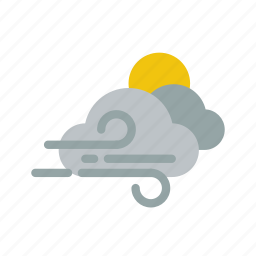 climate, clouds, snow, storm, sunny, weather icon