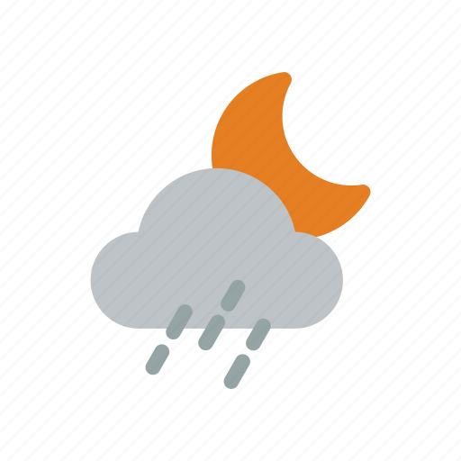 climate, clouds, moon, storm, temperature, weather, wind icon
