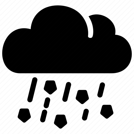 cloudy, hail, ice, precipitation, rain, storm icon