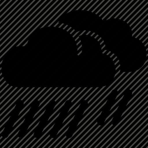 cloud, day, heavy, preciptiation, rain, weather icon