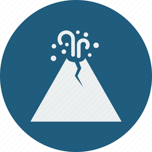 eruption, forecast, mountain, volcanoes, weather icon
