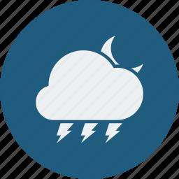 lightning, night icon