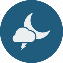 lightning, night icon