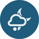 lightning, night, snowball icon