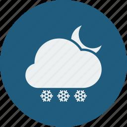 night, snowfall icon