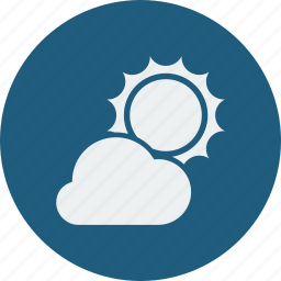 cloudy, sunny icon