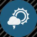 hailstones, sunny icon