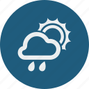 cloud, cloudy, forecast, rain, rainy, sunny, weather icon