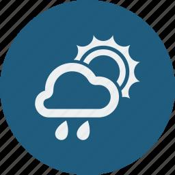 cloud, cloudy, forecast, rain, rainy, sunny, weather icon