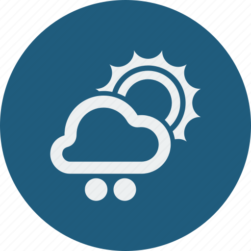 cloud, cloudy, forecast, snowball, sun, sunny, weather icon