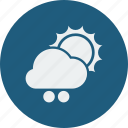 weather, cloud, cloudy, forecast, snowball, sunny