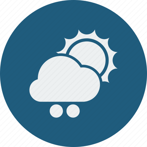 cloud, cloudy, forecast, snowball, sunny, weather icon