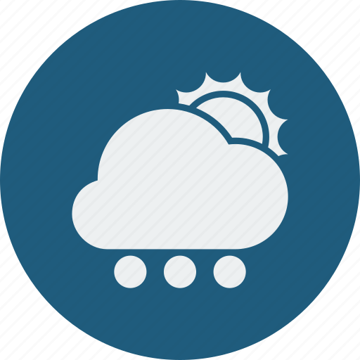cloud, cloudy, forecast, snowball, sun, sunny, weather, winter icon