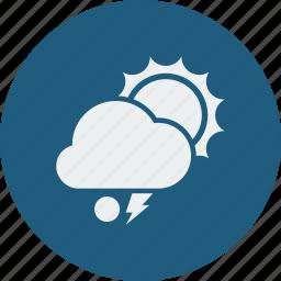 lightning, snowball, sunny icon