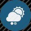 snowball, sunny, snowfall