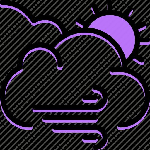 forecast, weather, windy icon