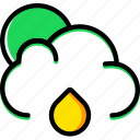 clouds, forecast, raining, weather icon