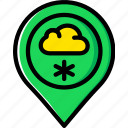 forecast, snow, weather icon