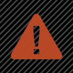 alert, attention, caution, error, warning icon