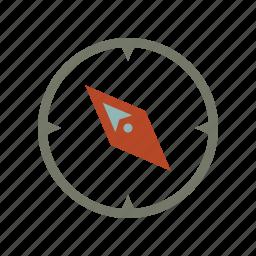 compass, gps, location, map, navigate, navigation, northwest icon