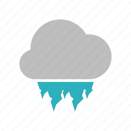 cloud, cloudy, forecast, hailstones, heavy, weather icon