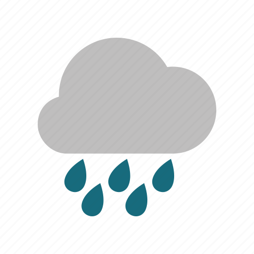 cloud, cloudy, forecast, heavy, rain, rainy, weather icon