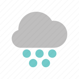 cloud, cloudy, forecast, heavy, snowball, weather, winter icon