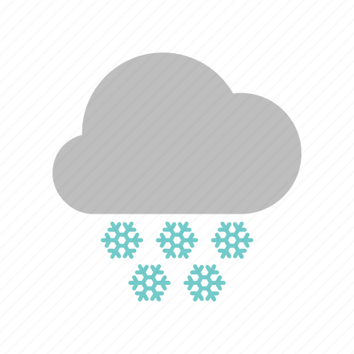 cloud, cloudy, forecast, heavy, snow, snowfall, weather, winter icon