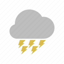 cloud, clouds, cloudy, electric, forecast, lightning, power, weather icon
