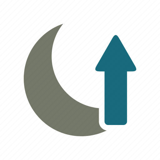 forecast, moon, night, rise, weather icon