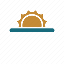 forecast, rise, sun, sunrise, weather icon