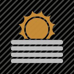fog, forecast, sun, sunny, weather icon