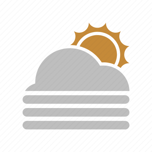 cloud, fog, forecast, sun, sunny, weather icon