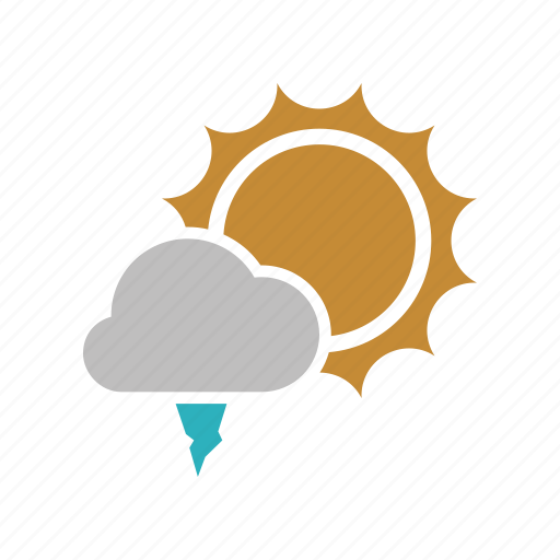 cloud, cloudy, forecast, hailstones, ice, sun, sunny, weather icon