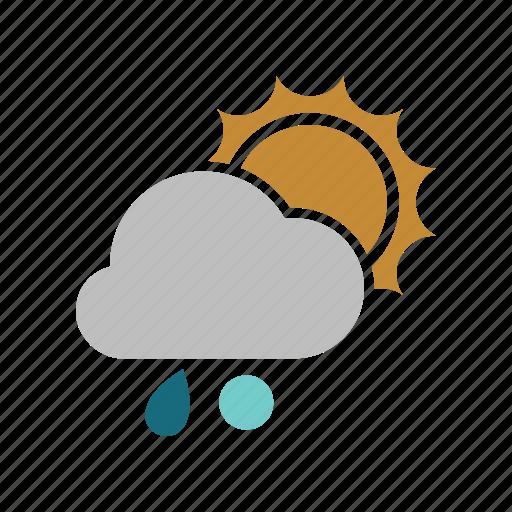 cloud, cloudy, forecast, rain, rainy, snowball, sun, sunny, weather icon