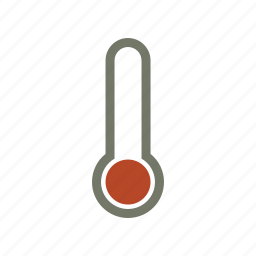 cold, forecast, temperature, thermometer, weather icon