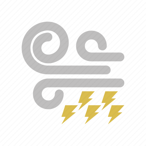 energy, forecast, lightning, power, weather, west, wind, windy icon
