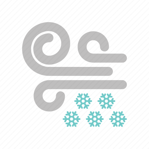 forecast, snow, snowfall, weather, west, windy, winter icon