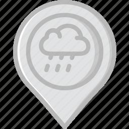 forecast, raining, weather icon