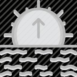 forecast, sunrise, weather icon