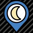 forecast, nighttime, weather icon
