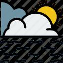 calm, forecast, sea, weather icon