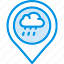 forecast, raining, weather icon