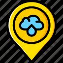 forecast, thunderstorm, weather icon