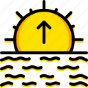 forecast, sunrise, weather icon