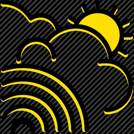 forecast, rainbow, weather icon
