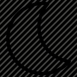 creative, grid, half, line, moon, shape icon