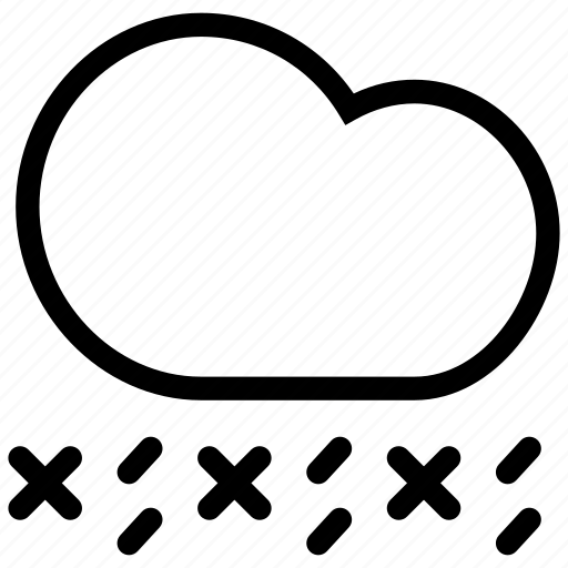 creative, forecast, grid, ice, line, pellet, rain, shape, sleet, snow, weather icon